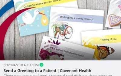 Sending Cards in Hospitals for FREE!